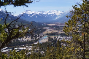Banff as seen from on high.